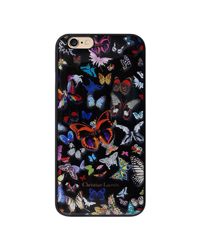 [Christian Lacroix] butterfly black caseiPhone 6S/6