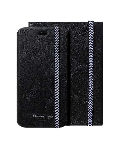 [Christian Lacroix] paseo black case (+ paseo notebook)iPhone 6S/6