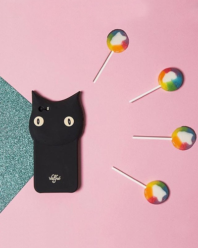 [VALFRE] bruno black cat caseiPhone 8/7
