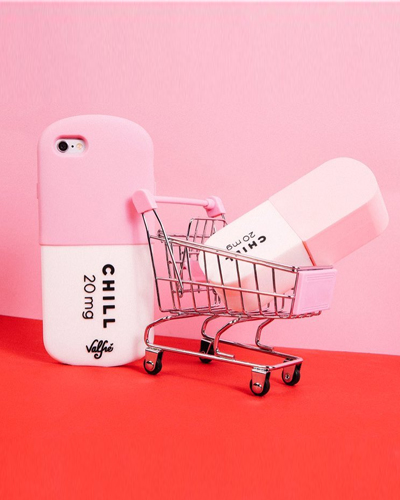 [VALFRE] chill pill pink caseiPhone 6S/6