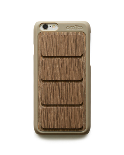 [ORAITO] wood padding back caseiPhone 6S/6
