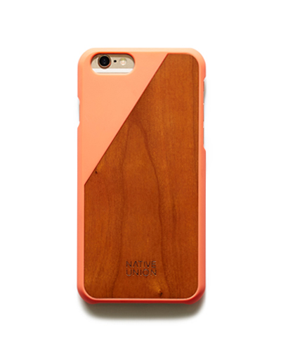 [N.UNION] clic wooden coral caseiPhone 6S/6