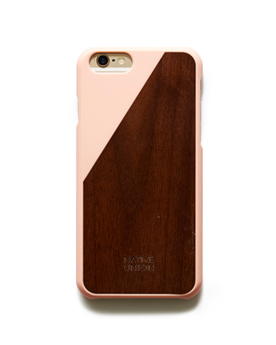 [N.UNION] clic wooden pink caseiPhone 6S/6