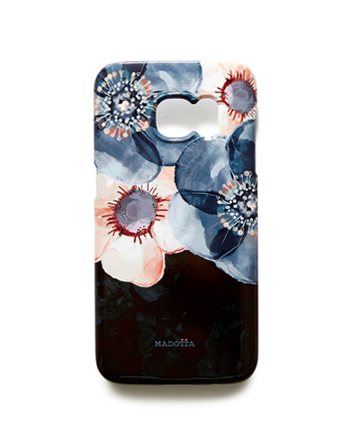 [MADOTTA] floral pattern on black caseGALAXY S7