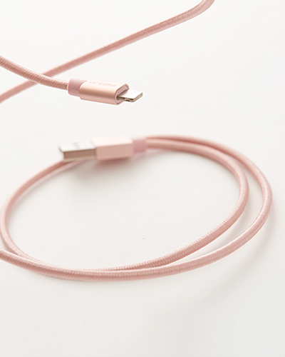[LE CORD] USB charge solid rose gold cable&nbsp