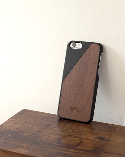 [N.UNION] clic wooden black caseiPhone 6S/6