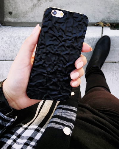 [ELEMENTAL CASE] matte black crystal caseiPhone 6S/6