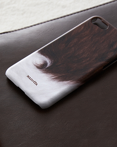 [MADOTTA] copper brown cow fur caseiPhone 8+/7+