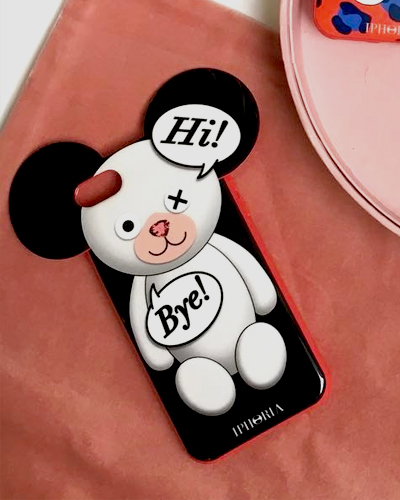 [IPHORIA] teddy HI BYE case iPhone 8/7