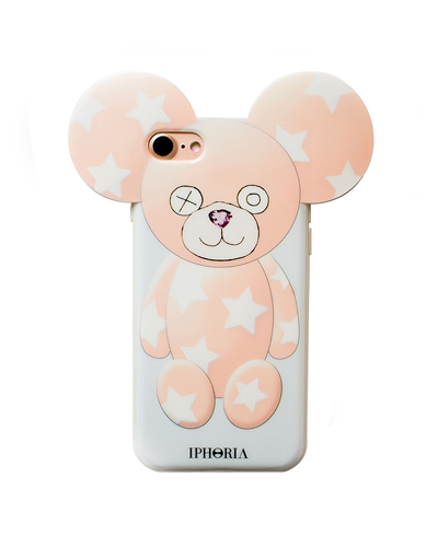 [IPHORIA] teddy white star case iPhone 8/7