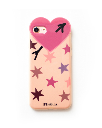 [IPHORIA] purple star heart case iPhone 8/7