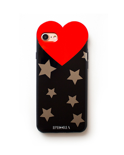 [IPHORIA] silver star heart case iPhone 8/7