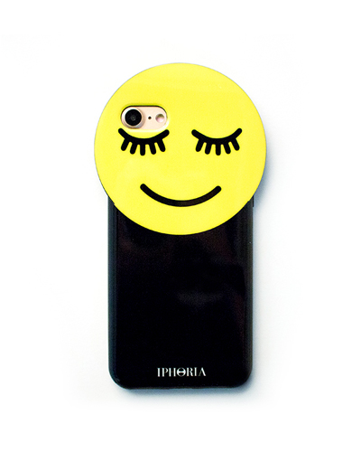 [IPHORIA] yellow smiley round case  iPhone 8/7