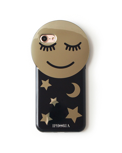 [IPHORIA] golden smiley round case  iPhone 8/7