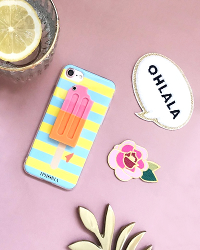 [IPHORIA] stripe lolli iced mirror caseiPhone 8/7