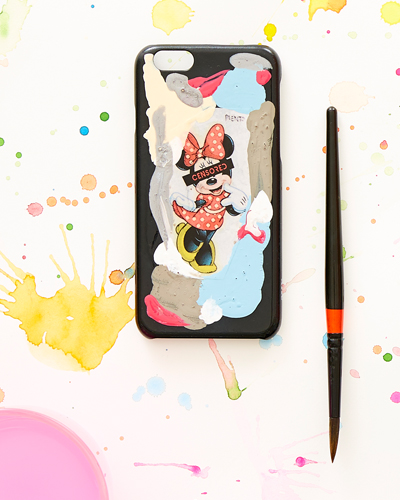 [2ME STYLE] mickey mouse censored case iPhone 8+/7+