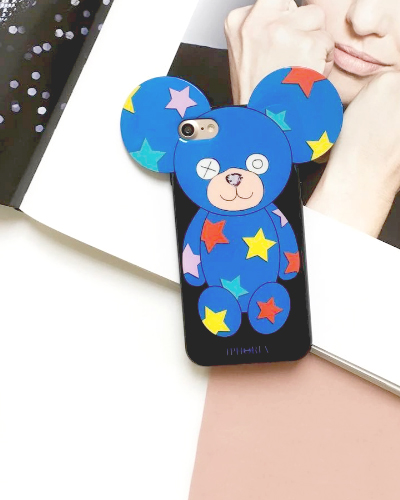 [IPHORIA] teddy multi star case iPhone 8/7