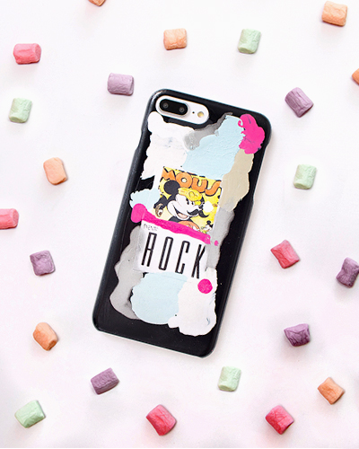 [2ME STYLE] mickey mouse rock caseiPhone 8+/7+