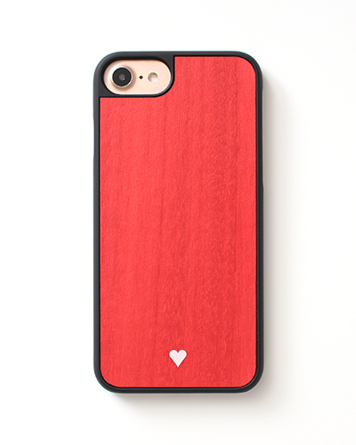 [WOOD.D] HEART REDiPhone 8+/7+